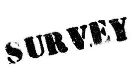 Survey rubber stamp Stock Photography