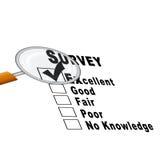 Survey Sheet (Illustration) Royalty Free Stock Photos