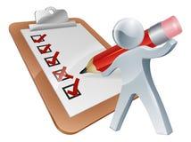 Survey silver person Royalty Free Stock Photo
