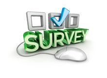 Survey Text, 3d Concept Royalty Free Stock Photo