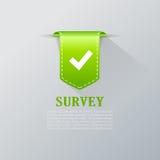Survey tick bookmark Stock Photography