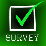 Survey Tick Indicates Poll Checked And Questionnaire Royalty Free Stock Photos