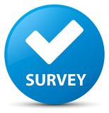 Survey (validate icon) cyan blue round button Royalty Free Stock Images