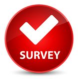 Survey (validate icon) elegant red round button Stock Photo