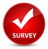 Survey (validate icon) elegant red round button Stock Image