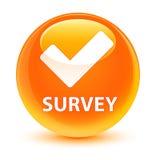 Survey (validate icon) glassy orange round button Royalty Free Stock Images