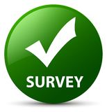 Survey (validate icon) green round button Royalty Free Stock Image