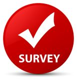 Survey (validate icon) red round button Stock Image