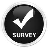 Survey (validate icon) premium black round button Stock Photo