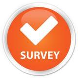 Survey (validate icon) premium orange round button Stock Photography