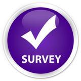 Survey (validate icon) premium purple round button Stock Images