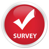 Survey (validate icon) premium red round button Royalty Free Stock Photos