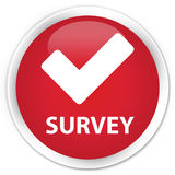 Survey (validate icon) premium red round button Royalty Free Stock Photo