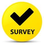 Survey (validate icon) yellow round button Royalty Free Stock Photos