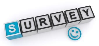 Free Survey Word Blocks Royalty Free Stock Photos - 183048048