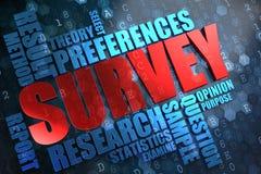 Survey. Wordcloud Concept. Stock Photo