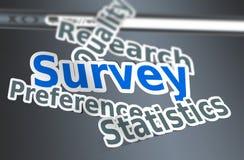 Survey words concept Stock Images
