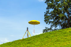 Surveying the area by geodesy Royalty Free Stock Photography