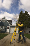 Surveying in Chicago royalty free stock photography