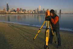 Surveying in Chicago Stock Photography