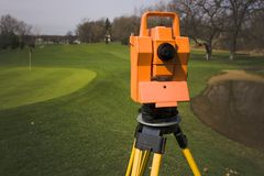 Surveying the Golf Course Royalty Free Stock Image