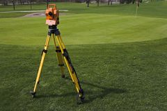 Surveying the Golf Course Royalty Free Stock Photography