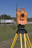 Surveying highway Royalty Free Stock Images