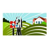 Geodesy and cartography illustration Royalty Free Stock Images