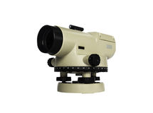 Surveying measuring equipment level theodolite  isolate on a whi Royalty Free Stock Photo