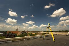 Surveying rooftop Stock Photos