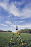 Surveying during spring time Stock Images