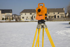 Surveying suburban area Stock Image
