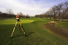 Surveying The Golf Course Stock Image