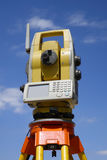 Surveying total station Stock Image