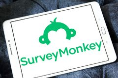 SurveyMonkey-Logo Stockfoto