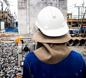 Surveyor engineer Royalty Free Stock Photo