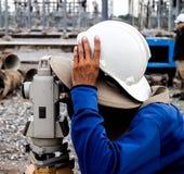 Surveyor engineer Royalty Free Stock Images