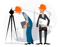 Surveyor and engineer. Vector illustration image of a surveyor and engineer Royalty Free Stock Image