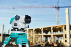 Surveyor equipment at construction site Stock Photography