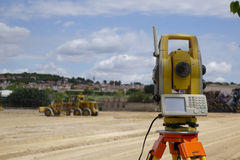 Surveyor equipment Stock Photography