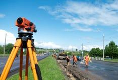 Surveyor equipment level theodolite Royalty Free Stock Images