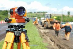 Surveyor equipment level theodolite Royalty Free Stock Images