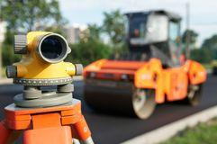 Surveyor equipment level theodolite Stock Image