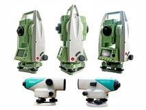 Surveyor equipment Royalty Free Stock Images