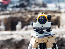 Surveyor equipment tacheometer or theodolite Royalty Free Stock Images