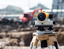 Surveyor equipment tacheometer or theodolite outdoors Royalty Free Stock Photography