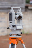 Surveyor equipment tacheometer or theodolite outdoors Stock Photography
