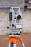 Surveyor equipment tacheometer or theodolite outdoors Stock Photography