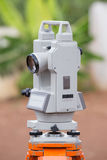 Surveyor equipment tacheometer or theodolite outdoors Stock Images