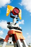 Surveyor equipment target outdoors Royalty Free Stock Image